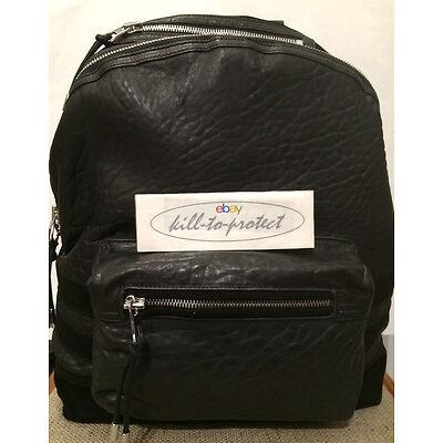 BALMAIN x H&M LEATHER BACKPACK SUEDE Black Bag Suede Jacket Rare Mens 2015