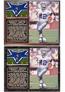 Emmitt Smith  22 Dallas Cowboys Legend NFL Hall Of Fame Photo Card ... f1809d78f52d