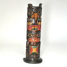 FAIR TRADE Hand Carved Wooden Tiki Totem Pole 50cm