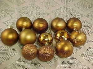 Copper Christmas Ornaments.Details About Christmas Ornaments Copper Color Shatterproof 12 Total Ball Shape Various Sizes