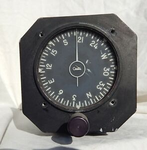 Details about 1966 Dated Cessna Marked Directional Gyro Compass Indicator  Gauge Instrument