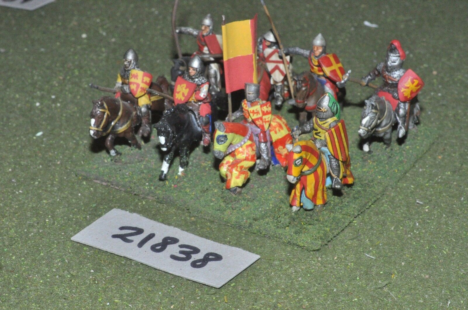 25mm medieval   english - men at arms 8 figs cavalry - cav (21838)