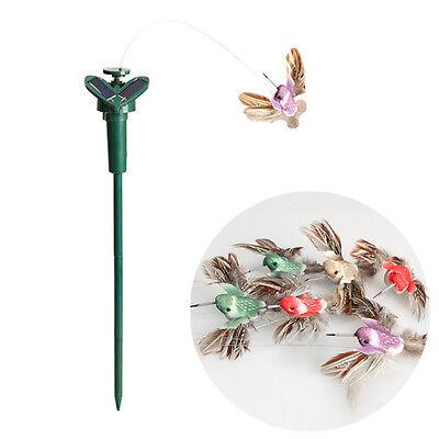 Funny Solar Powered Flying Fluttering Hummingbird Flying Birds Home Garden Decor