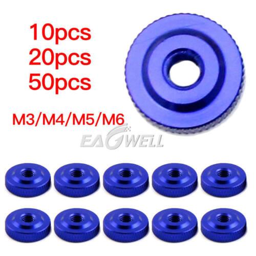 10//50//100PCS M3 M4 M5 M6 Thin Type Metric Round Flat Knurled Thumb Nuts DIN467