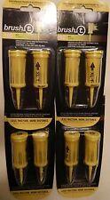 4 packs of Yellow XLT Jumbo Brush T Tees - New in Package - 8 Tees in All