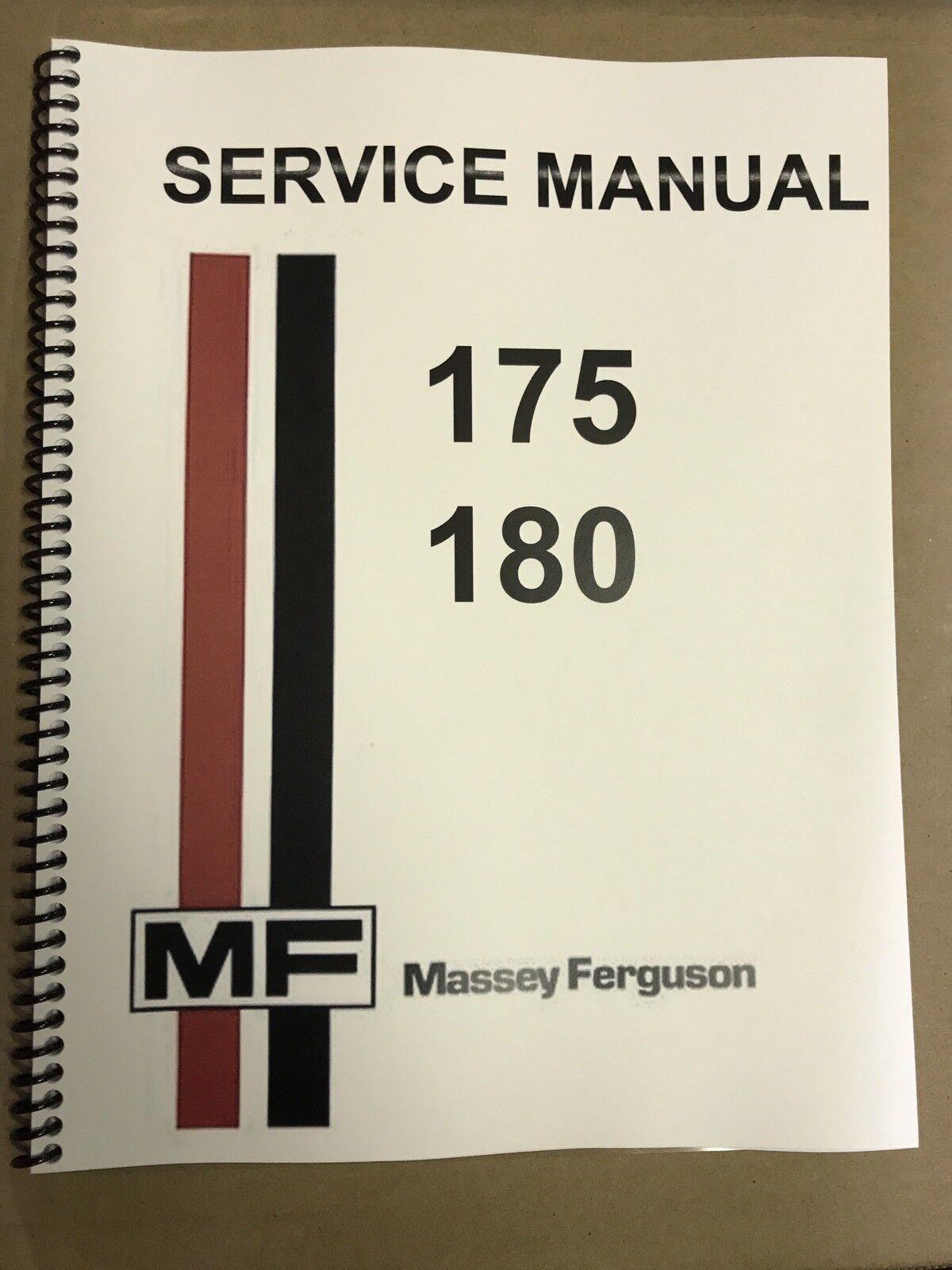 massey ferguson 180 tractor service repair shop manual technical rh ebay com MF 175 Tractor massey ferguson 175 parts manual