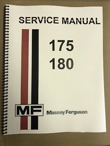 180 massey ferguson tractor technical service shop repair manual rh ebay com 1964 Massey Ferguson 175 Restore Massey Ferguson 180