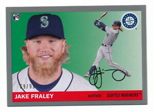 JAKE FRALEY RC 2020 TOPPS ARCHIVES SILVER BORDER ROOKIE #69/99 SEATTLE MARINERS