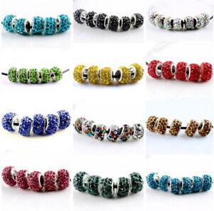 20Pcs-Silver-Murano-Perles-de-verre-LAMPWORK-Fit-European-Charm-Bracelet-A-faire-soi-meme-Bijoux