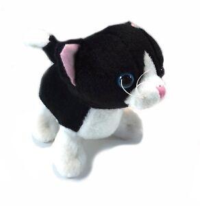 Fiesta Toys Cat Black And White 6 Inch Plush Stuffed Animal Toy Ebay