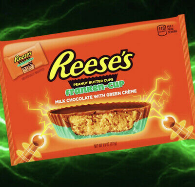 Halloween Fast Food 2020 3 Packs Of NEW Reese's FRANKEN CUP 2020 Halloween Candy 1.2oz Bars