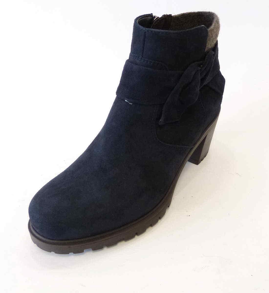 Ara Stiefelette Mantova blue Samtchevro Nubuk Leder Weite H 47364 75 Stiefel