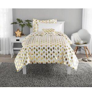 Image Is Loading Metallic Gold White Ikat Dot Comforter And Sheet