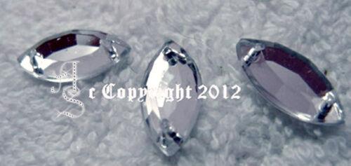 Pedrería p aufnähen aufnähsteine spitz oval aprox 7x15 mm Crystal karostonebox