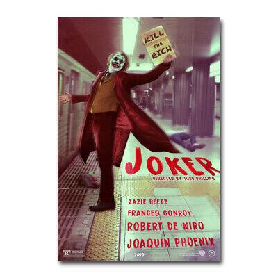 The Joker Hot Movie Silk Poster Canvas Art Linving Room Decor Print 24x36 inch