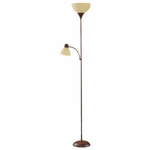 Mainstays Combo Floor Lamp 72 Tall Reading Lamps 2 Lights 1 Brown