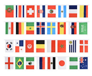 22914bc8740e Image is loading Premium-Quality-33ft-Long-International-Flags-Of-The-