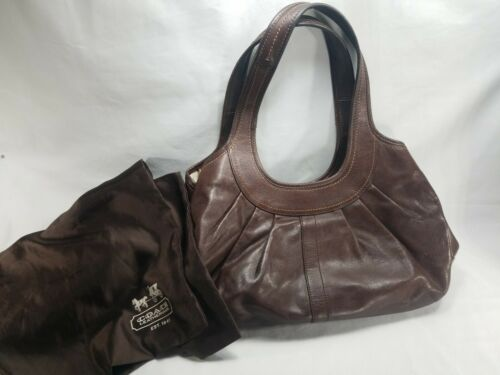 Authentic Coach Handbag Brown Ergo Style #12248