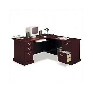 Cherry Wood Corner Desk Corner Executive Desk