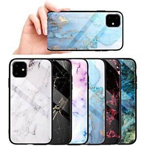 COVER-per-Iphone-11-Pro-Max-ORIGINALE-Gradient-Marmo-BORDI-SOFT-VETRO-TEMPERATO