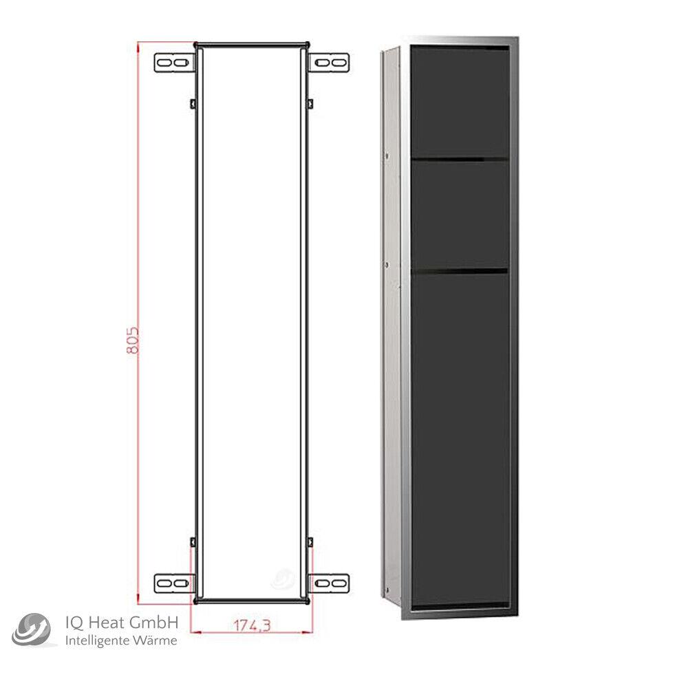 WC Modul emco asis 150 chrom   schwarz Wandcontainer Einbaurahmen