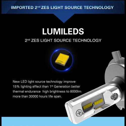 Alla Lighting LED High Low Beam Headlight Bulb Light for MERCEDES Xenon White