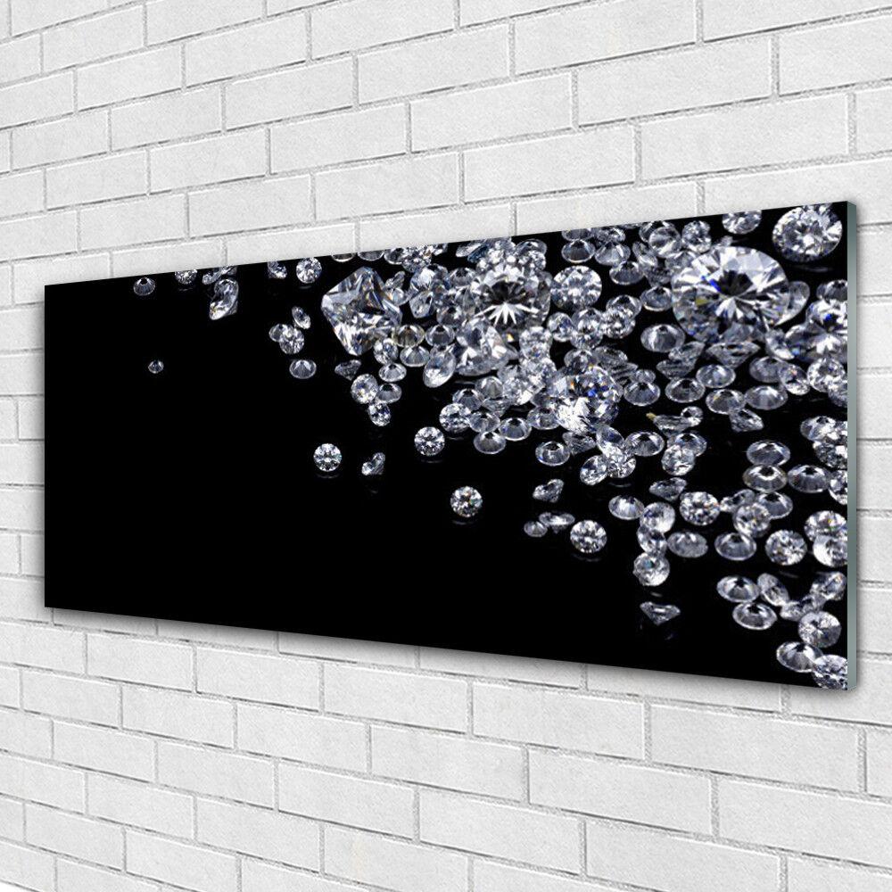 Tableau murale Impression sous verre 125x50 Kunst Diamants