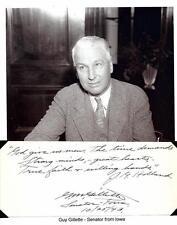 Guy Gillette Autograph Senator Iowa Surplus Property Board Senate Post Office #2