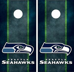 Seattle Seahawks Cornhole Board Decal Wrap Wraps Ebay