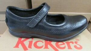 Kickers Black Patent Shoes Size UK 6 Eur 39