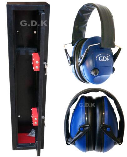 with Blue Electronic Ear Defenders 3 Shotgun Safe GDK 3 Gun cabinet Ear chauffants