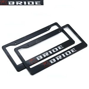 1-pair-JDM-Universal-Bride-Plastic-Racing-License-Plate-Frame-Tag-Cover-Holder