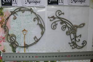 CHIPBOARD-DieCuts-MUSIC-Flourish-amp-Frame-Embellishments-2-StyleChoice-Scrap-FX-T