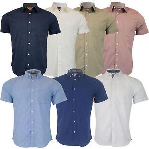 Mens-Linen-Cotton-Shirt-Tokyo-Laundry-Wells-Short-Sleeved-Grosvenor-Summer-New