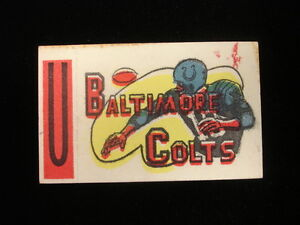1961 Topps Baltimore Giants Flocked Sticker Insert