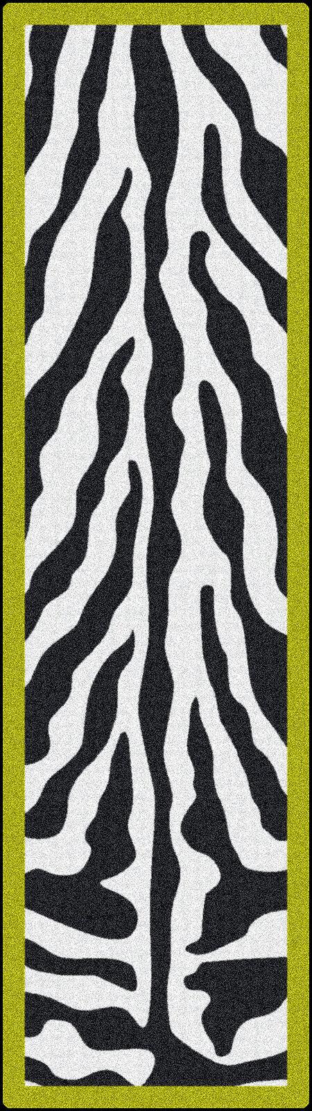 2x8 Milliken Zebra Glam Citrus Animal Print Area Rug - Approx 2'1 x7'8