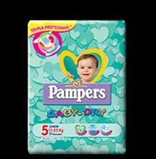 PAMPERS PANNOLINI BAMBINI BABY DRY JUNIOR TAGLIA 5 11-25 KG QUANTITA/' A SCELTA