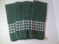 Kitchen Towels Set Of 4 - 100% Cotton - Green Color - Size 14 X 25