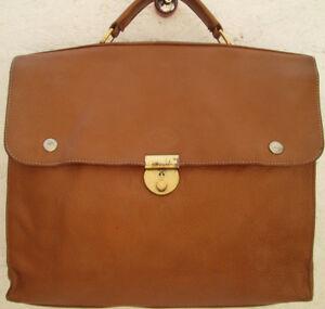 de06bbdb38c24 AUTHENTIQUE sac type cartable A4 LONGCHAMP cuir (T)BEG vintage bag ...
