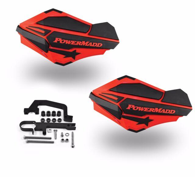 PowerMadd SENTINEL Handguard Hand Guards Mirror Black Snow Snowmobile Hayes
