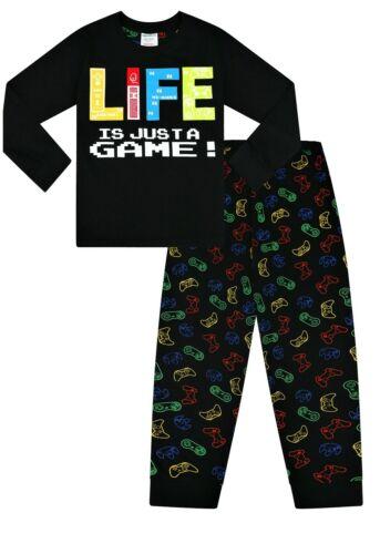 Boys Life Is Just a Game Gaming Long Pyjamas Gamer Cotton  PJs