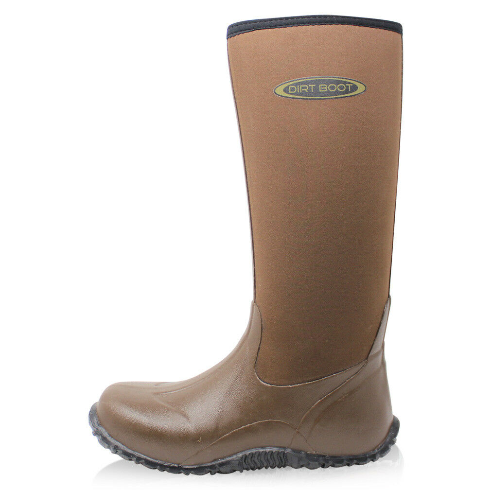 Dirt Boot® Unisex Neoprene Wellies Wellington Muck Field Fishing Stiefel® Wellies Neoprene Braun b71156