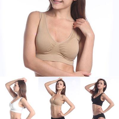 Seamless Bra Women Ladies Padded Bra Top Vest Comfort Sports Bra Lassen Sie Unsere Waren In Die Welt Gehen