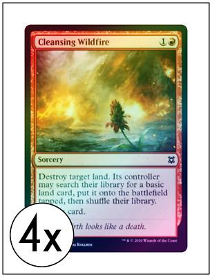 English Zendikar Rising MTG Magic 4x Cleansing Wildfire NM-Mint