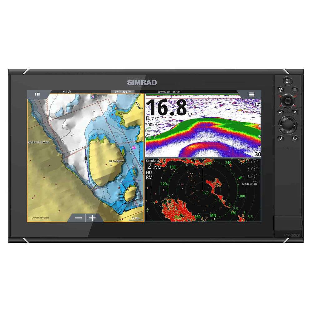 NSS16 evo3 SIMRAD Ecoscandaglio con worldmap di base display HD 16 000-13240-001
