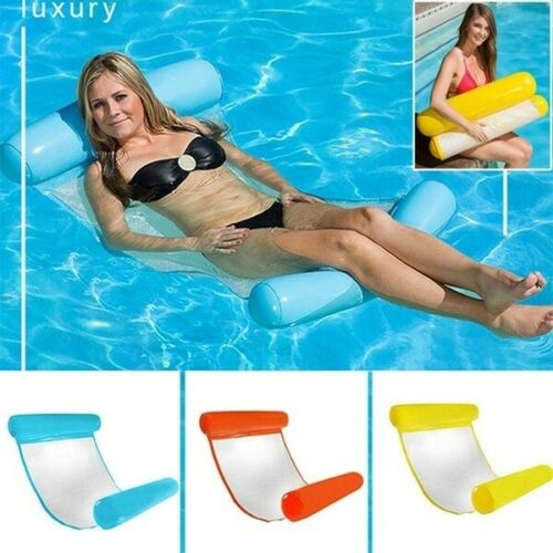 Inflatable Floating Water Hammock Float Pool Lounge Bed Swimming Chair UK STOCK