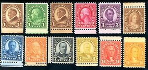USAstamps-Unused-VF-XF-US-Complete-Perf-11x10-5-Rotary-Sctt-631-H-632-642-OG-MNH