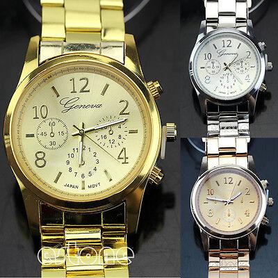 Stylish Geneva Ladies Women Girl Unisex Stainless Steel Quartz Wrist Watch