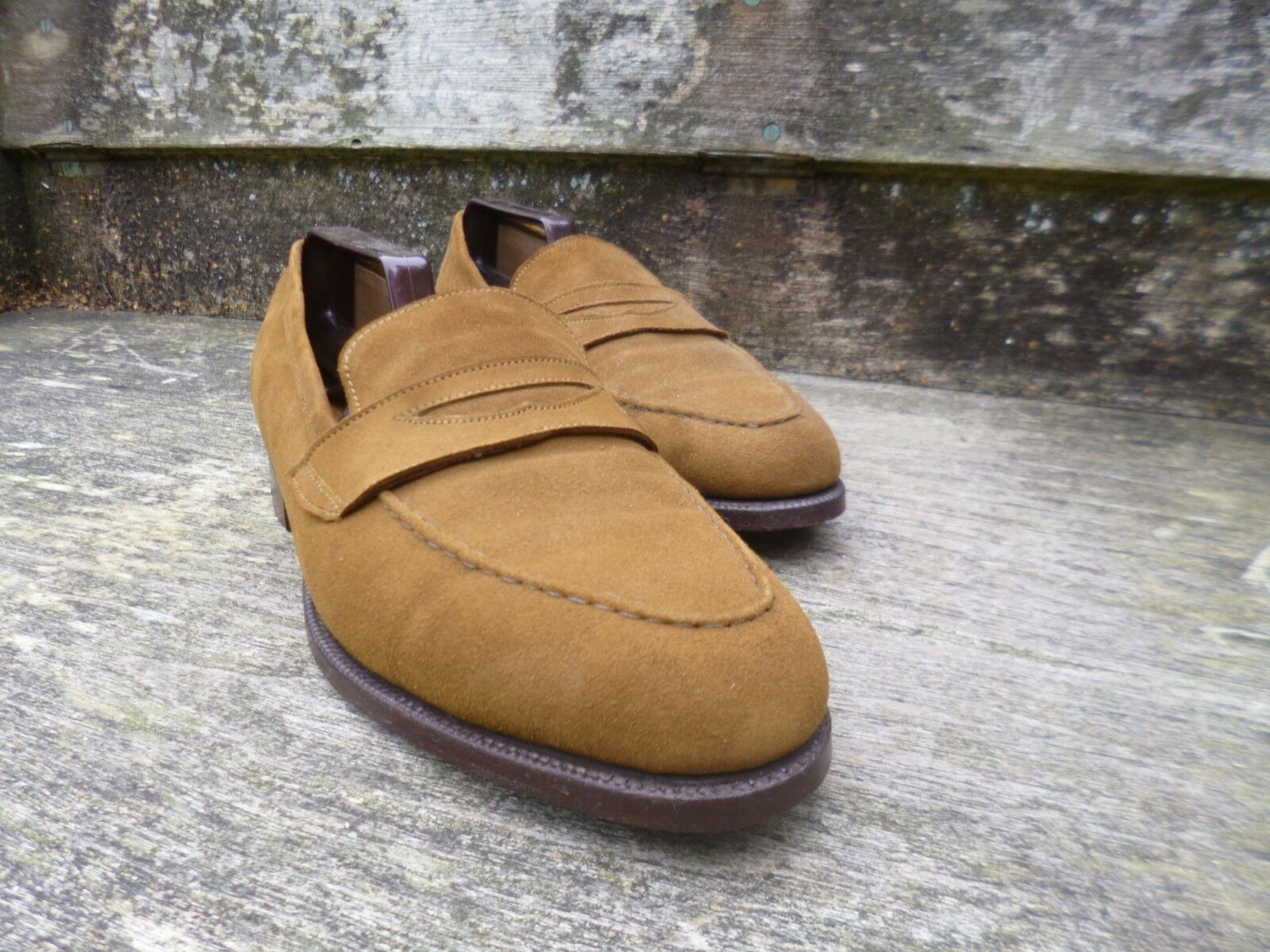 CHEANEY   CHURCH LOAFERS – BROWN   TAN   MARACCA SUEDE - – WORN ONCE