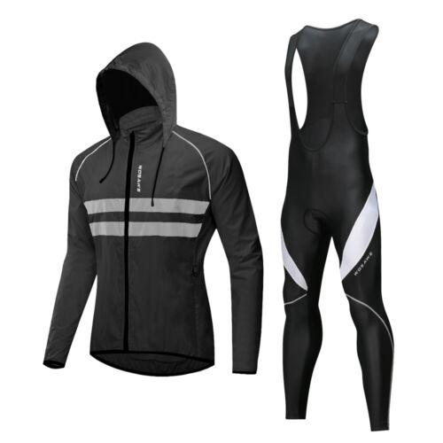 Cycling Jacket set Long sleeve Men/'s bike bib Pants Gift Bicycle Jerseys Tights